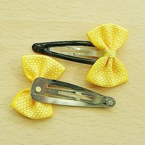 <在庫処分品><黄色水玉・ピン>かわいいヘアピン・ヘアクリップ47種 2個セット<hac-001>|sapporo-boueki