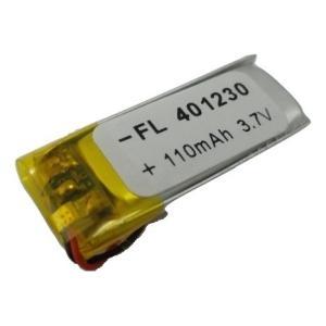 工作用リチウムイオン充電池 3.7V 約110mA 約33.4mm×約11.6mm×厚4.2mm 1個入<kei-735> sapporo-boueki