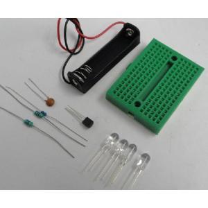 <150円キット>単3電池1本→3V昇圧回路 LED4個付 懐中電灯の回路 電池別途<kit-002>|sapporo-boueki