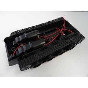 <戦車キャタピラー台車キット><単3 4本電池ケース・モーター2軸・スイッチ付き戦車キット><kit-040>|sapporo-boueki