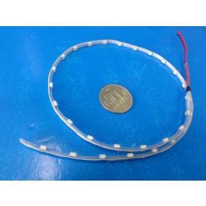 <LED防水テープ><青>生活防水LEDテープ 幅約4mm 長さ約500mm LED30灯×0.2W 電圧3V LED30灯 電線約90mm<led-005>|sapporo-boueki