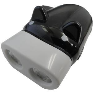 ブタさんLEDライト 発電式懐中電灯 <クロ> ぶた 災害・地震用懐中電灯<led-012>|sapporo-boueki