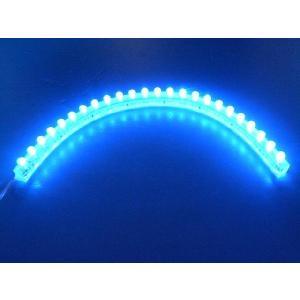 超高輝度!<青・ブルー 1×24=24灯>防水仕様 LEDテープライト 24cm 12V仕様<led-500>|sapporo-boueki
