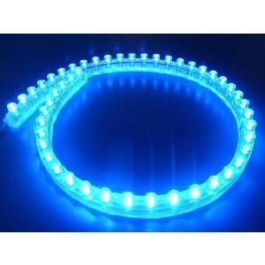 超高輝度!<青・ブルー 1×48=48灯>防水仕様 LEDテープライト 48cm 12V仕様<led-501>|sapporo-boueki