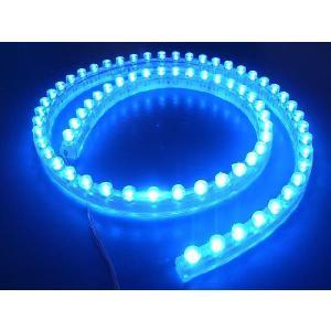 超高輝度!<青・ブルー 1×72=72灯>防水仕様 LEDテープライト 72cm 12V仕様<led-502>|sapporo-boueki
