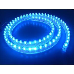 超高輝度!<青・ブルー 1×96=96灯>防水仕様 LEDテープライト 96cm 12V仕様<led-503>|sapporo-boueki