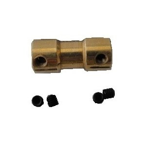 <シャフトとシャフトのジョイント><六角レンチ・いもネジで固定 軸と軸とのジョイント 2mm 2mm><mof-200> sapporo-boueki