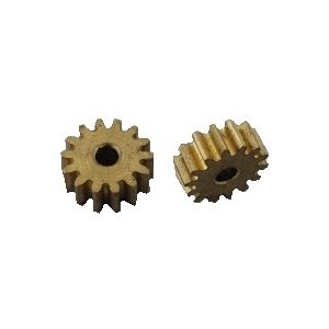 <真鍮製工作用歯車・真鍮製ギアー通販・販売><モーター接続 穴円の直径φ2mm 歯数12 直径5.5mm 長さ3.8>2個入<mof-403> sapporo-boueki