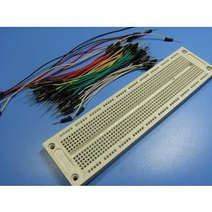 <ブレッドボード通販・販売>ブレッドボード 電子工作試作治具+配線コード<pbb-002>|sapporo-boueki