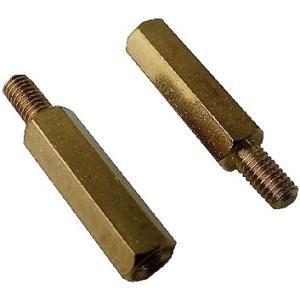 <スペーサー><M3 六角真鍮スペーサー メネジオネジ 高さ4mm ネジ部5mm>12個<pps-310>|sapporo-boueki