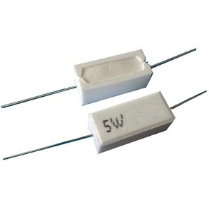 <5Wセメント抵抗通販・販売><5Wセメント抵抗 100Ω ±5%>2個入<res-100>|sapporo-boueki