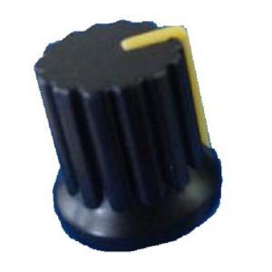 <小型ボリューム用ツマミ ノブ・つば付 差込式>Bタイプ 直径φ12×高さ15+つば15mm 黄色 2個<res-307> sapporo-boueki