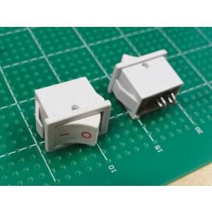 <ロッカースイッチ通販・販売>ロッカースイッチ<電源スイッチ ON-OFFスイッチ 薄灰>2個入<swp-032>|sapporo-boueki