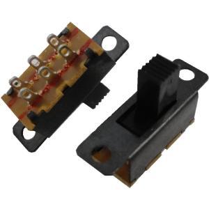 <スライドスイッチ販売・通販><スライドスイッチ2回路2接点 柄長3mm>5個入<swp-118>|sapporo-boueki