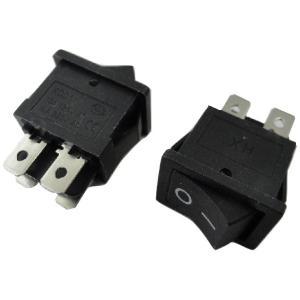 <ロッカースイッチ通販・販売><ロッカースイッチ車載用スイッチ 黒 電源スイッチ 黒 ケースにつける電子工作用基板>2個入<swp-119>|sapporo-boueki