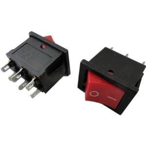 <ロッカースイッチ通販・販売>ロッカースイッチ車載用スイッチ<赤> 2回路電源スイッチ 黒 ケースにつける電子工作用基板 2個入<swp-120>|sapporo-boueki