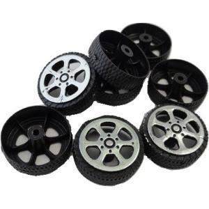<工作用タイヤ><工作用プラスチックタイヤ φ20mm×幅7mm 穴1.5mm>8個入<tai-001>|sapporo-boueki