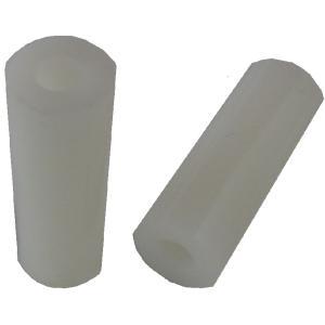 <M4プラスチックスペーサー φ4mmネジ用>高さ8mm 外径φ7mm 内径φ4.2mm 約24個入<yjp-0146>|sapporo-boueki