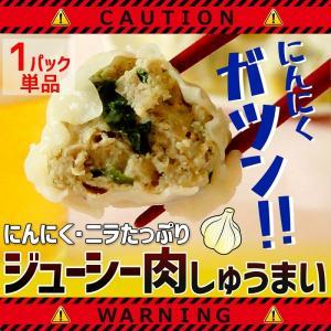 にんにくジューシー肉しゅうまい 焼売 お取り寄せ グルメ 6個入×1パック ニンニク シュウマイ ニラ 中華 点心 肉 北海道 冷凍|sapporo-rinkou