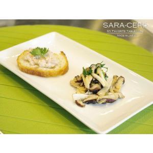21日までSALE価格!洋食器 sara-ceraレシピ Agnes L'EPICERIE キノコのマリネ 1300℃ Temperature  白いブルスケッタトレー 200460000009|sara-cera-y