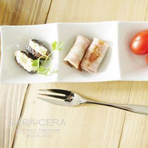 21日までSALE価格!洋食器 sara-ceraレシピ Agnes L'EPICERIE デーツのクリームチーズはさみ 1300℃ Temperature 3品の前菜ボール 200460000043|sara-cera-y