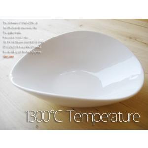 洋食器 超高温1300℃ Temperature 白い器ヘルシーサラダのオーバルボール L  200460000072   |sara-cera-y