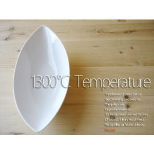 21日までSALE価格!洋食器 超高温1300℃ Temperature NewイタリアンリーフディッシュM 白い食器オーバルボール 200460000074|sara-cera-y