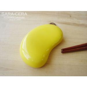 和食器 お箸置き 日本製 イエロービーンズレスト 箸置 (お取り寄せ商品)200350000225    sara-cera-y