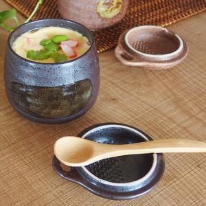 和食器 神楽坂の和食屋で食べる白刷毛茶碗蒸し 竹スプーン付き 200350000322  |sara-cera-y