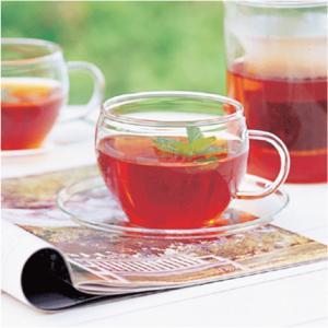 お盆休みセール!グラス ガラス食器 ガラスのハーブティーカップ&ソーサー|sara-cera-y