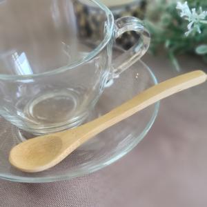 天然木のデザートスプーン ラウンド おしゃれ シンプル ナチュラル 木製 カフェ カトラリー 〔お取り寄せ商品〕|sara-cera-y