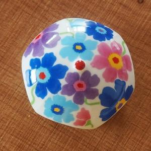 有田焼 排水口カバー アンブレラ ポピー 花柄 洗面所 洗面台 インテリア 置き物 置物|sara-cera-y