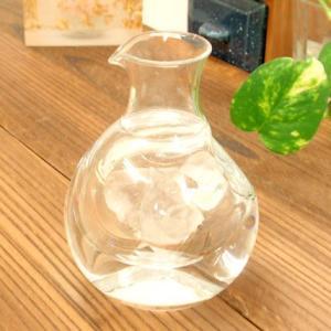 お盆休みセール!グラス ガラス 冷酒用 ポケットカラフェ 小 冷酒 徳利|sara-cera-y
