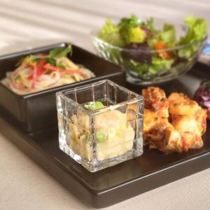 21日までSALE価格!ガラス食器 アミューズグラスキューブ No.50 カフェ オシャレ〔お取り寄せ商品〕|sara-cera-y