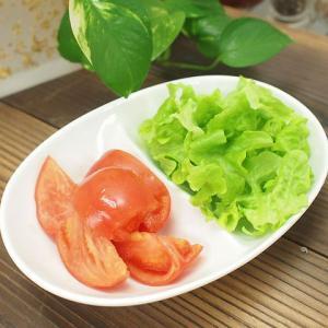 21日までSALE価格!洋食器 アウトレットOUTLETクリーミーホワイト 強化 キッズランチ オーバルカレーパスタボール 2つ仕切 楕円型   |sara-cera-y