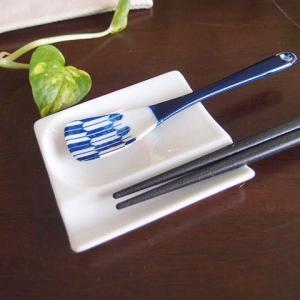 1/31までSALE価格!和食器 お箸置き 日本製 ちょこっとスプーンお箸置きレスト 白  アペタイ...