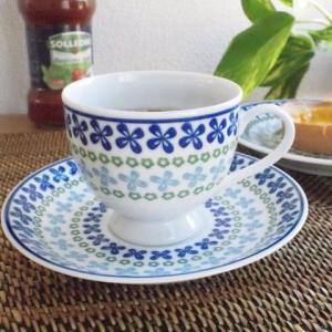 洋食器 5客セットポーリッシュ garland ガーランド コーヒーカップ&ソーサー ポーランド食器 |sara-cera-y