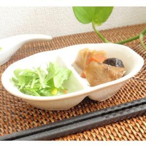 21日までSALE価格!洋食器 レンジメニュー 仕切付きミニ小皿 〔お取り寄せ商品〕 洋食器 カフェ 楕円 ナチュラル シンプル ベーシック|sara-cera-y