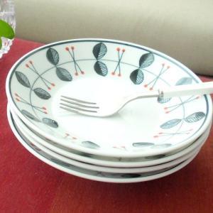 洋食器 4枚セット Raspberry ラズベリー サラダプレート ケーキ皿 |sara-cera-y