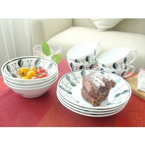 洋食器 新生活応援Raspberry ラズベリー 爽やかモーニングセット12ピース|sara-cera-y