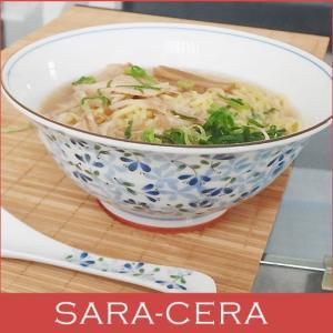 和食器 軽くてしっかりラーメンサイズ スタイリッシュ麺鉢 めばえ どんぶり 丼 オシャレ(お取り寄せ商品) sara-cera-y