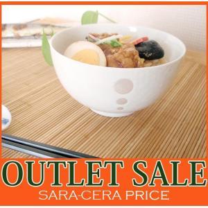 和食器 どんぶり レシピ丼ボウル ドット白 13cm アウトレット 和食器 日本製 返品不可 sara-cera-y