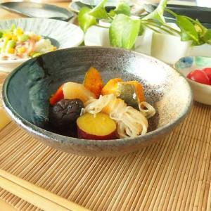 21日までSALE価格!和食器 煮物浅鉢 黒釉白刷毛金蒼吹き  おしゃれ 和食器 日本製|sara-cera-y