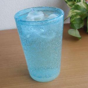 お盆休みセール!グラス ガラス 涼やか琉球ガラス 泡ロンググラス 水 (お取り寄せ商品)    |sara-cera-y