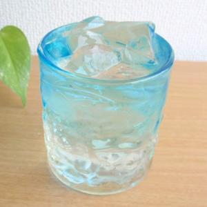 お盆休みセール!グラス ガラス 涼やか琉球ガラス でこぼこグラス S 水色 (お取り寄せ商品)  |sara-cera-y