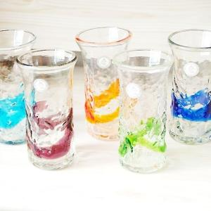 お盆休みセール!グラス ガラス 琉球ガラス でこ一口ビアグラス〔お取り寄せ商品〕     |sara-cera-y
