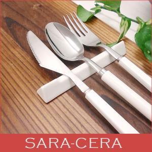 箸置き 箸置 日本製 三角ロングレスト パステルホワイト 三角レスト 三角レストロングタイプ おしゃれ 美濃焼 カフェ風 cafe風 sara-cera-y