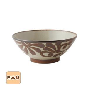 琉球サビ唐草 そばどんぶり 19cm 和食器 日本製 美濃焼 sara-cera-y