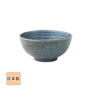 藍ネズわび 砂目丸どんぶり 15.5cm 和食器 日本製 美濃焼 sara-cera-y