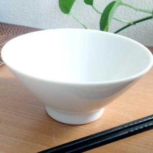 中華大好き さらっとシャケ茶漬け碗 白磁 |sara-cera-y